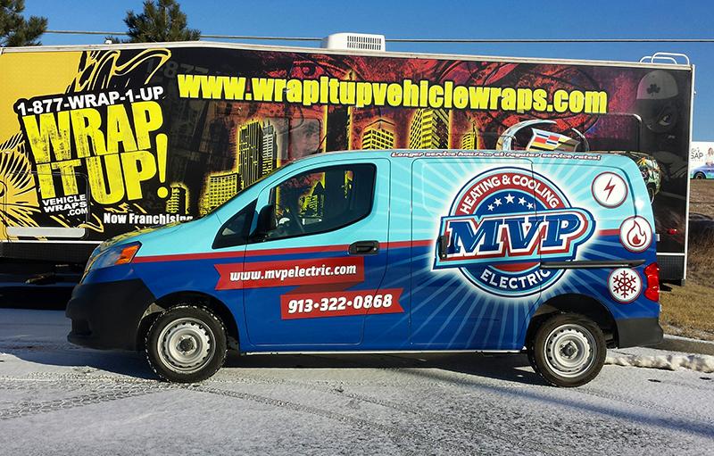 MVP Van custom wrap