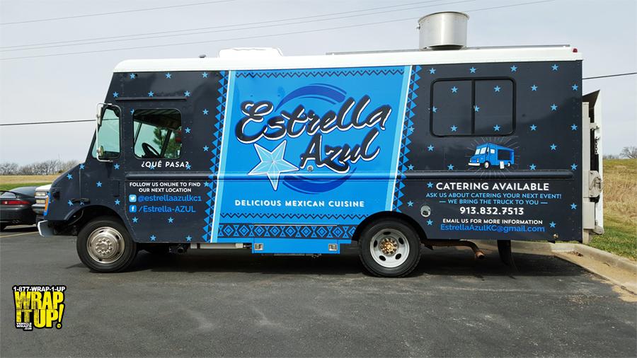 Estrella Azul Food Truck Wrap
