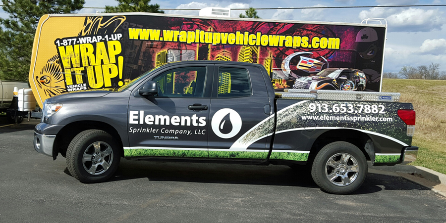 Elements Truck Wrap
