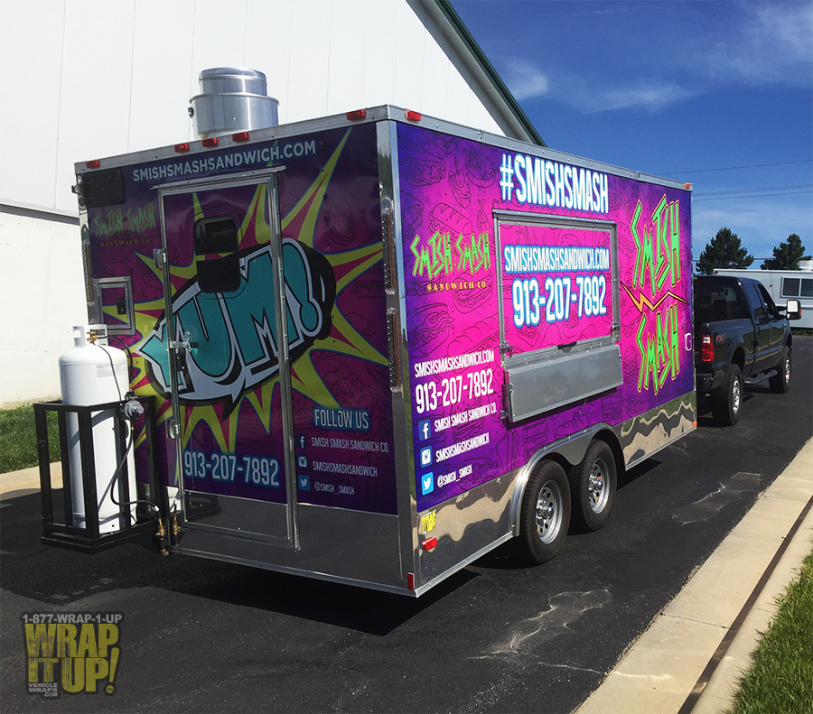 Smish Smash Trailer Wrap