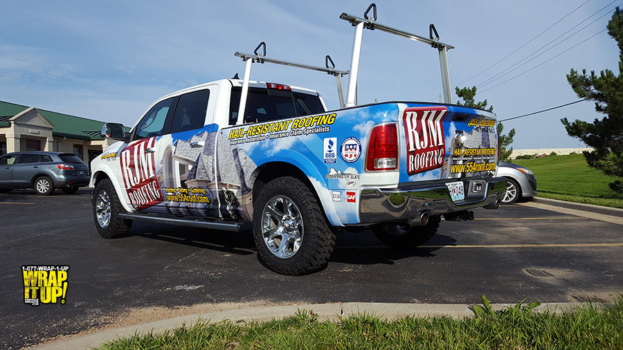 Roofing Vehicle Wrap : Rjm roofing wrap it up