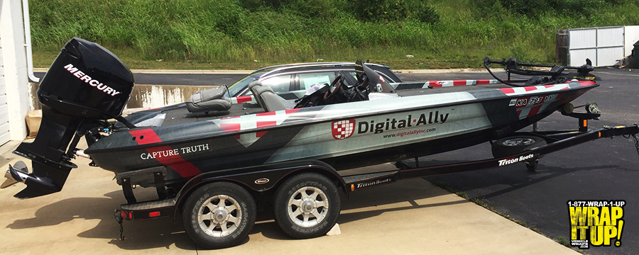 Digital Ally Boat Wrap