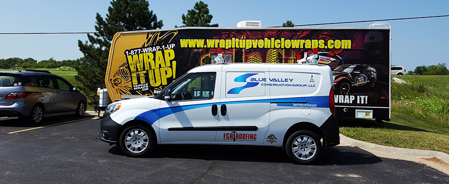 Van Wrap Blue Valley