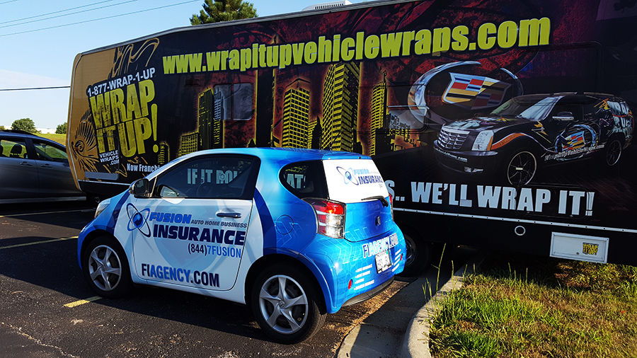 Take A Look At The Newest Member Of Fusion Insurance Agency This Full Car Wrap For Can Be Seen Circulating Around Kansas City And Surrounding Areas