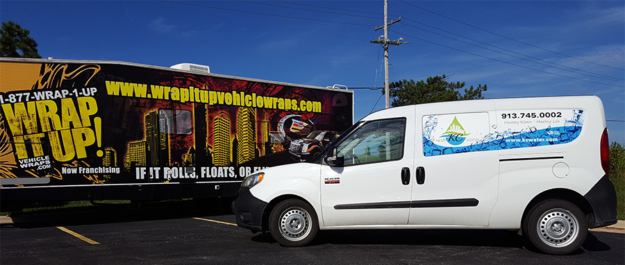 KC Fresh Water Van Wrap