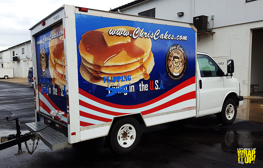 Chris Cakes Box Truck Wrap