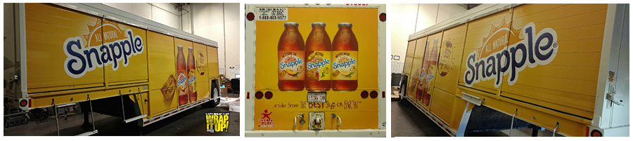 Snapple Trailer Wrap