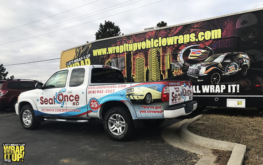 Seal Once Truck Wrap