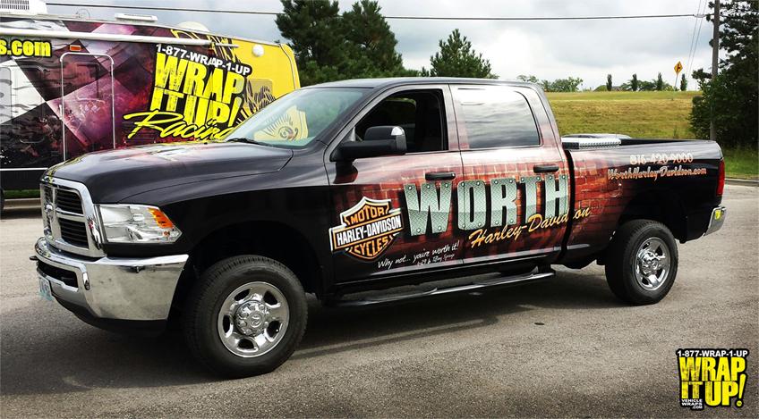 Truck Wrap Worth Harley Davidson