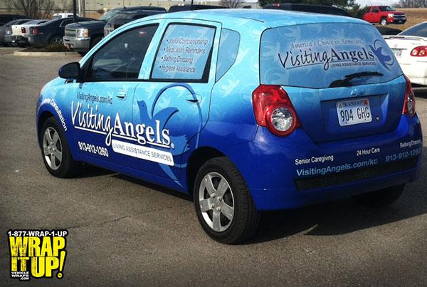 blue car rear view