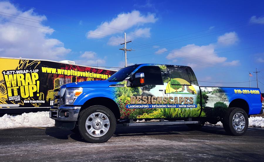 Design Scape Truck Wrap