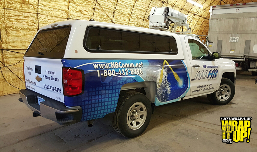 H and B Truck Wrap