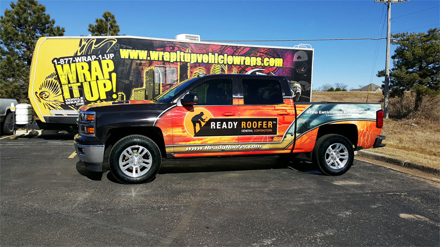 Ready Roofer Truck Wrap