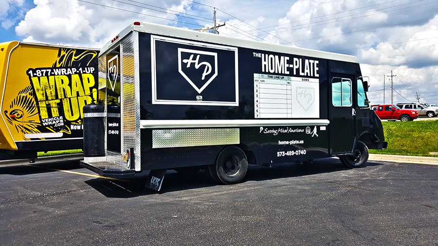 Home Plate Truck Wrap