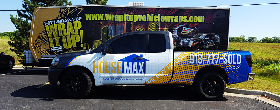 House Max Truck Wrap