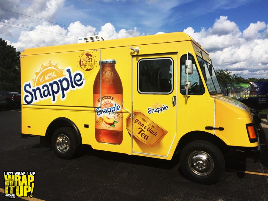 Snapple Truck Wrap