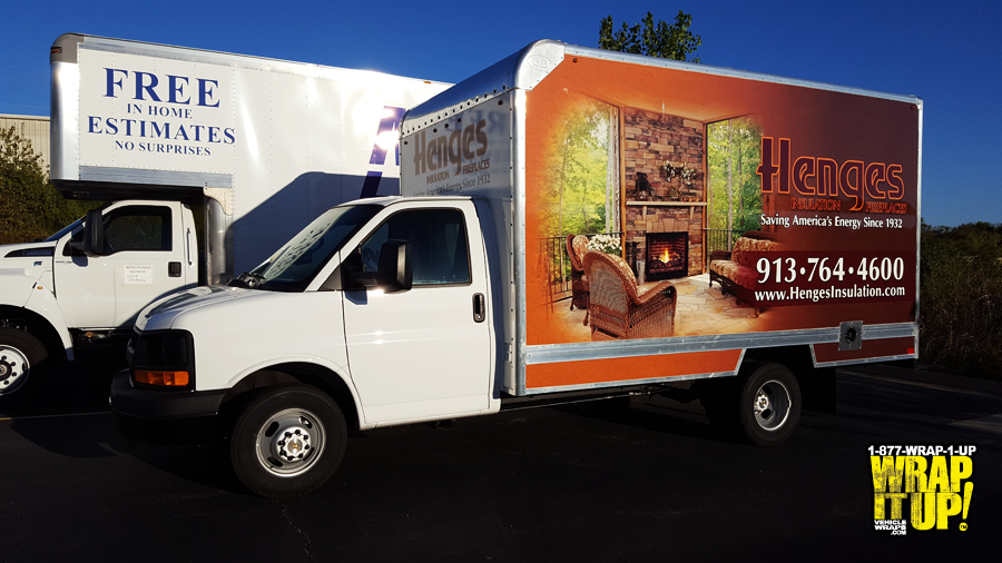 Henges Box Truck Wrap