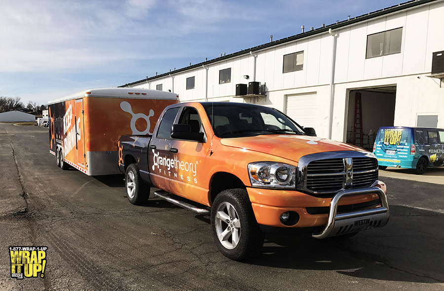 Orange Theory Truck Wrap