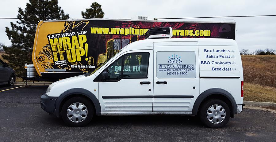 Plaza Catering Van Wrap