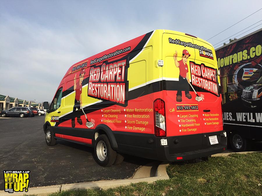 Red Carpet Van Wrap