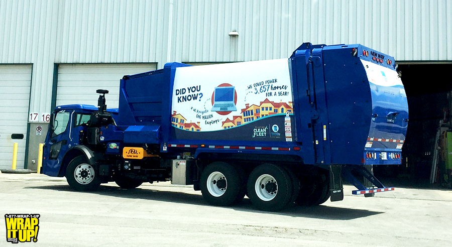 Olathe Trash Truck Wrap